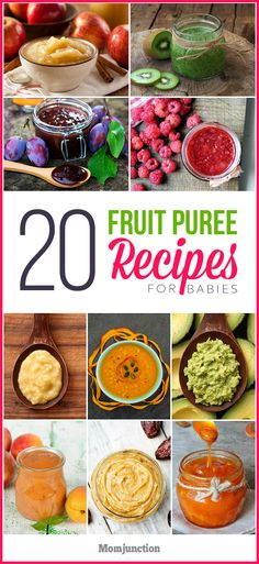 20 Amazingly Healthy And Tasty Fruit Purees For Babies : Fruit puree for babies is anytime a healthy choice. So indulge your child with a variety of pureed fruits. Here's a list of nutritious fruit puree recipes. Baby Puree Recipes, Pureed Food Recipes, Fruit Recipes, Baby Food Recipes, Chicken Recipes, Camping Recipes, Vegan Recipes, Fruit Puree Baby, Baby Fruit