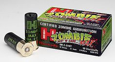 Zombie Max - 12 gauge buckshot Z-MAX.  Also comes in other calibers.  This is live ammunition. This IS NOT a toy.