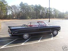 Black 1963 Mercury Comet convertible! White top with red interior! My dream car!!!! :)