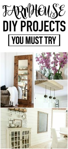 These diy farmhouse decor projects are the BEST! DIY farmhouse decor is an awesome way to bring that fixer upper look to your home.