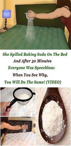 She Spilled Baking Soda On The Bed And After 30 Minutes Everyone Was Speechless: When You See Why, You Will Do The Same!