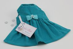Teal Dog Dress, XS, S, M Dog Dress, Designer Dog Dress, Dog Clothes, Couture Dog Dress. on Etsy, Sold Purchased this for Caiti, can't wait to get it.