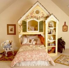 Doll house themed bedroom design and decor