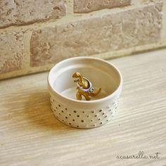 DIY this cute ring holder.