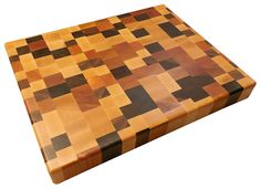 End Grain Brickwork Butcher Block - Walnut, Cherry & Rock Maple