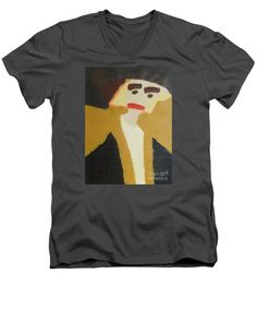 Patrick Francis Charcoal V-Neck T-Shirt featuring the painting The Graduate 2014 by Patrick Francis V Neck T Shirt, Tank Man, The Incredibles, Mens Tops, Shirts, Painting, Design, Military Green, Hat
