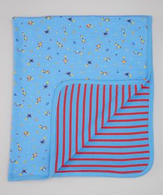Take a look at this Blue Ku-Ku Bird Blanket by Kushies on #zulily today!