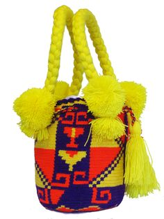 Buy Wayuu Bags Online-Colombian Bags Retailers and Wholesalers-Suscribe and Get 3 FREE Wayuu Bracelets with your first purchase! Light Pink Color, Green Colors, Mini Mochila, Tribal Bags, Tapestry Bag, Dark Brown Color, Turquoise Color, Electric Blue, Handmade Bags