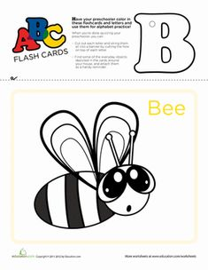 Use these flashcards to practice the ABC's, cut out and punch a hole at the top of each letter, and string them up to serve as a vibrant teaching tool. Writing Worksheets, Preschool Worksheets, Literacy Activities, Learning Resources, Teaching Tools, Kids Learning, Alphabet Charts, Flashcard, Learning The Alphabet