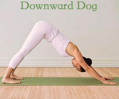 Benefits of the Downward Dog Yoga Pose: Stronger hands, wrists, low-back, hamstrings, calves and Achilles tendon; Decreased anxiety; Decrease in back pain; Decrease in tension and headaches; Increased full-body circulation. Find out more Yoga benefits by clicking the image.