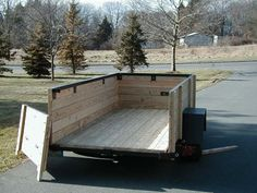 Wooden sides on utility trailer | trailer | Utility ...
