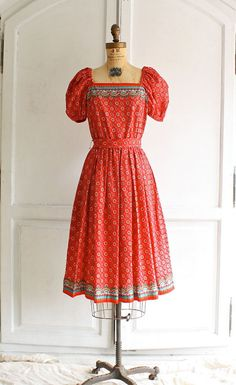 Hey, I found this really awesome Etsy listing at https://www.etsy.com/listing/156544930/70s-vintage-red-peasant-dress-ethnic