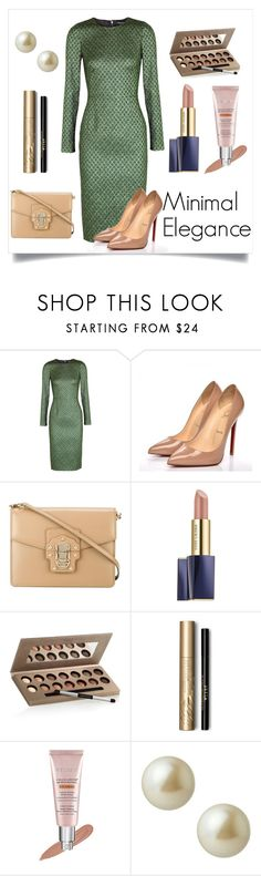 """""""Minimal Elegance"""" by jroy1267 on Polyvore featuring Dolce&Gabbana, Christian Louboutin, Estée Lauder, Laura Geller, Stila, By Terry, Carolee, Elegance, timeless and simplicty"""
