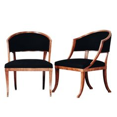 Fine Pair of Swedish 19th Century Gustavian Barrel Back Armchairs | From a unique collection of antique and modern armchairs at https://www.1stdibs.com/furniture/seating/armchairs/