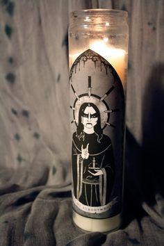 I love this Saint Euronymous of Mayhem Prayer Candle.