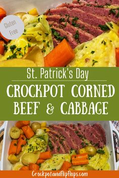 Classic Corned Beef And Cabbage Recipe, Corn Beef And Cabbage, Crockpot Cabbage Recipes, Corned Beef Recipes, Chicken Recipes, Crock Pot Cooking, Cooking Recipes, Healthy Recipes, Crock Pots