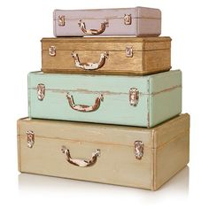 Wooden suitcase storage boxes from Oliver Bonas | Christmas gifts for home-lovers | housetohome.co.uk
