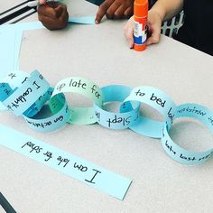 Cause and effect chains! So. Much. Fun. I gave each pair of students one event to begin with (the green loop). They had to turn it into a cause and effect chain. I gave them a certain amount of time and made it into a little competition. It was a blast!