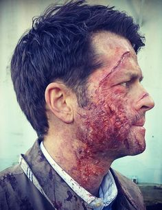Image shared by IM BACK❤. Find images and videos about supernatural, spn and castiel on We Heart It - the app to get lost in what you love. Castiel, Supernatural Cast, Mark Sheppard, Sam Winchester, Misha Collins, Jared Padalecki, Jensen Ackles, Sfx Makeup, Prosthetic Makeup