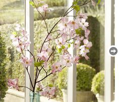 Faux dogwood branch - love good silk flowers