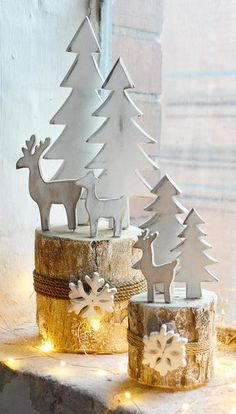 Buy Birch Log Winter reindeer scenes – the worm that turned – and liven up your outdoor space – christmas decorations Christmas Log, Minimal Christmas, Woodland Christmas, Simple Christmas, Christmas Crafts, Christmas Ornaments, Christmas Tables, Modern Christmas, Natural Christmas