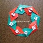 Origami Instruction Christmas Wreath