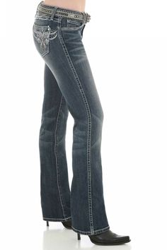 "Women's Wrangler Rock 47 Jeans on sale! Buy now! Exclusive #discount code ""QUICKSHIP"" saves 20% more than #sale price. Selling out!"