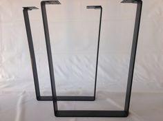 28 Trapezoid Table Legs Flat Steel POWDER COATED SET2 by Balasagun, $240.00
