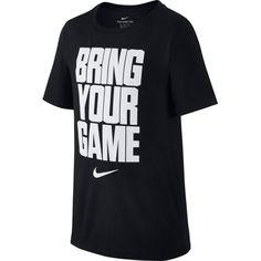 Nike Boys' Dry Bring Your Game Graphic T-Shirt, Size: Medium, Black