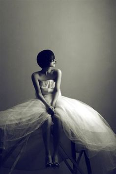 """Beautiful"" by @Bonnie Tsang - Top 10 Pinterest Pins This Week from @Mashable #bride #blackandwhite #topten"