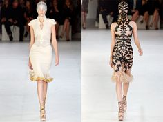 Hey its the no makeup dress. Thanks McQueen! Actually the left side is to die for