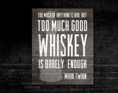 Whiskey and Mark Twain