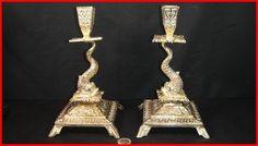 trés belle paire bougeois bronze doré dauphin N. Bronze, Antique Lighting, Antiques, Antiquities, Antique, Old Stuff