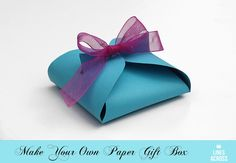 Make Your Own Paper Gift Box in 5 Minutes! Box Bag, Small Gifts, Diy Paper, Gift Boxes, Paper Gift Box, Diy Gift Box, Paper Gifts, Diy Box, Craft Gifts