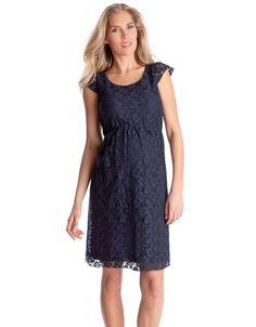 13fc1dcc4b5a Navy Lace Maternity Dress