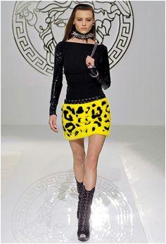 Versace 2014 - Wild yellow léopard skirt
