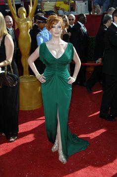Christina Hendricks Red and Green