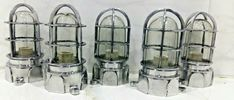 VINTAGE STYLE NEW SOLID CAST ALUMINIUM PASSAGEWAY BULKHEAD SHIP LIGHT LOT OF 5