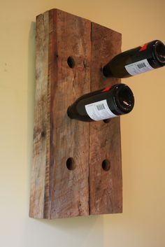 "This is a 6 bottle wine holder made from a barn built in 1897 in Denver, Pa. Measures 18"" tall by 14"" wide by 4"" deep. Finished with a clear Eco- friendly water based finish."