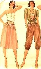 "Sew Spring Outfits with this vintage Vogue Pattern from 1980's New Uncut Factory Folded It has several styles to create lasting fashions.   Misses  Size = 10 Bust = 32.5""~Waist= 25""~ Hip+ 34.5"" Design projects include : camisole, loose  fitting short sleeve jacket, yoke style knickers, pants or skirt."