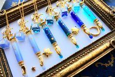 Embedded Kawaii Jewelry, Kawaii Accessories, Cute Jewelry, Jewelry Accessories, Resin Jewelry, Crystal Jewelry, Crystal Necklace, Bottle Charms, Resin Charms