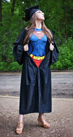 Funny pictures about Supergirl graduation. Oh, and cool pics about Supergirl graduation. Also, Supergirl graduation. Kindergarten Graduation, College Graduation, Graduate School, Graduation Pics, Graduation Gowns, Np School, School Scholarship, High School, Graduation Portraits