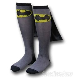 Now I've seen it all. Here we have Batman socks with capes. Yeah, you read that right..,capes.