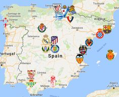 2019 La Liga Map Murcia, Toulouse, World Cup Logo, Liga Soccer, Fifa, Football Fashion, Stamford Bridge, Chelsea Fc, Bilbao