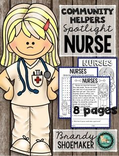 Community Helpers Spotlight: Nurse Labor Day Career StudiesHere's a quick and… Nursing Career, School Nursing, Nurse Crafts, School Nurse Office, Communities Unit, Community Nursing, Community Helpers Preschool, Community Workers, Toddler Teacher