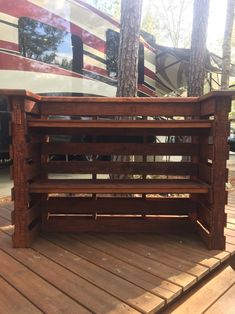 Exquisitely Hand Crafted Pallet Bar, Tiki Bar, Beautiful And Stylish, Bar Measurements Are These Rustic Pallet Bars Are Designed And Built Solid. Built From New Pallets, Bar Furniture For Sale, Furniture Ideas, Patio Design, House Design, Pallet Bar, Diy Pallet, Pallet Wood, Outside Bars, Modern Contemporary Homes