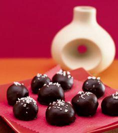 ... de sel recipe yummly caramel dark chocolate truffles with fleur de sel