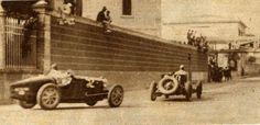 Coppa Ciano 1931 . Tazio Nuvolari Alfa Romeo 8C 2300 #68 in front of Pietro Ghersi Bugatti T35B #52