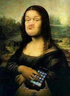 Duck-Lips Mona Lisa