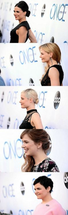 Lana Parrilla (Regina Mills/Evil Queen), Jennifer Morrison (Emma Swan), Georgina Haig (Elsa), Elizabeth Lail (Anna), and Ginnifer Goodwin (Snow White/Mary Margaret Blanchard) at the El Capitan Theatre for the Season 4 Premiere of Once Upon a Time (09/21/14) #OUAT #OUATCast